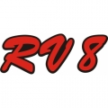 RV 8 Aircraft Decal,Sticker 4.5''high x 13.5''wide!