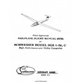 Schweizer Model SGS-1-35-C Sailplane Pilot's Operating Handbook and Flight Manual $4.95