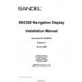 Sandel SN3308 Navigation Display Installation Manual 90106-IM $9.95