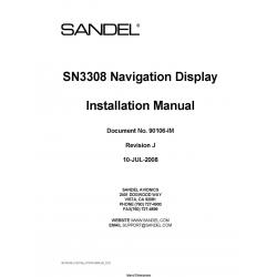 Sandel SN3308 Navigation Display Installation Manual 90106-IM