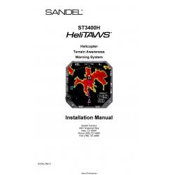 Sandel ST3400H HeliTAWS Installation Manual