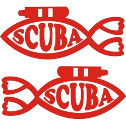 "Scuba Diver Boat Decal Sticker 12"" wide by 5.10"" high! $10.95"