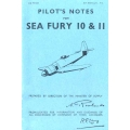 Sea Fury 10 & 11 Pilot's Notes $5.95