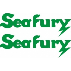 Sea Fury Aircraft Decal,Sticker 9''high x 27.5''wide!