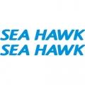 Sea Hawk Aircraft Decal,Sticker 2.5''high x 18''wide!