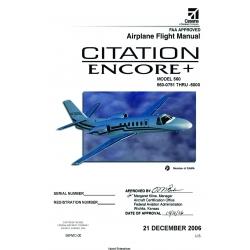 Cessna Citation Encore+ Model 560 (560-0751 THRU-5000) Flight Manual 56MC-00 $19.95