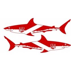 """Shark- Scuba Decal Sticker Vinyl Graphics 12"""" wide by 3.25"""" high!"""