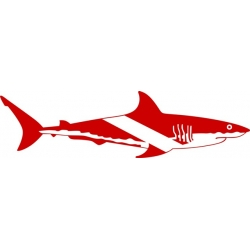 "Shark-scuba Decal Sticker 12"" wide by 3.25"" high! $10.95"