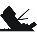 Sank Ships Insignias Sticker/Decal!