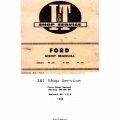 Ford Series 2N 8N 9N I&T Shop Service Manual No.FO-4 Shop Manual