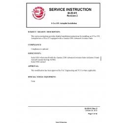 S-Tec 55X Autopilot Installion Service Instruction $9.95