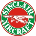 Sinclair Aircraft Decal,Sticker 6''round diameter!
