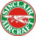 Sinclair Aircraft Decal,Sticker 6''round diameter!