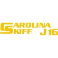 Carolina Skiff J16 Boat Decal/Sticker 13.5''wide x 3''high!