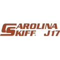 Carolina Skiff J17 Boat Decal/Sticker 13.5''wide x 3''high!