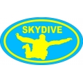 Skydive Decal Vinyl Sticker!