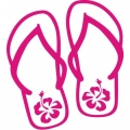 Hibiscus Slipper! Decal/ Stickers!