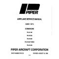Piper Comanche Service Manual PA-24-180/250/260/400 $13.95 Part # 753-516