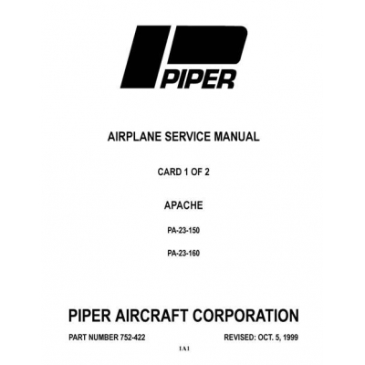 apache 160 coloring pages | Piper Apache PA-23-150 & PA-23-160 Service Manual $13.95 ...