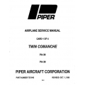 Piper Twin Comanche Service Manual PA-30/PA-39 $13.95 Part # 753-645