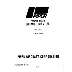 Piper Pawnee Brave Service Manual PA-36-285/300/375 $13.95 Part # 761-471