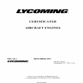 Lycoming SSP-110-1 Certificated Aircraft Engines 2013 $5.95