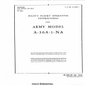 North American Army Model A-36A-1-NA Pilot's Flight Operating Instructions $3.95