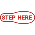Step Here Aircraft Sign Logo,Decals!