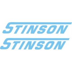 Stinson Aircraft Decal,Logo 1.5''h x 16''w!