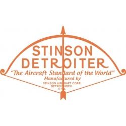 Stinson Detroiter Aircraft Decal,Sticker 10.5''h x 16''w!