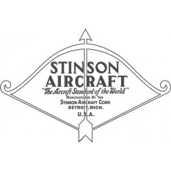Stinson Detroit Michigan Aircraft Logo,Decals!