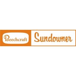 Beechcraft Sun Downer Aircraft Decal/Sticker 2''h x 7''w!