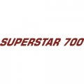 Superstar 700 Aircraft Decal,Sticker 1''high x 13''wide!