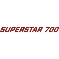 Superstar 700 Aircraft Decal,Sticker 1''high x 13''wide!