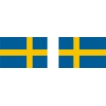 "Sweden Flag Decal/Vinyl Sticker 4.5"" wide by 3"" high!"