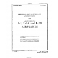 Taylorcraft L-2 , L-2A and L-2B Erection and Maintenance Instruction  1944 $9.95