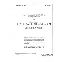 Taylorcraft Flight Operating Instructions for Army Models L-2, L-2A, L-2B and L-2M
