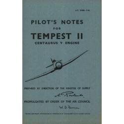 Hawker Tempest II Pilots Notes 1946