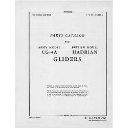 Waco CG-4A Glider Parts Catalog 1945 14.95