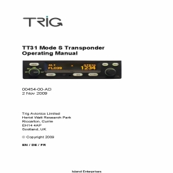 TRIG TT31 Mode S Transponder Operating Manual 2009 $9.95