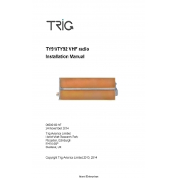 Trig TY91/TY92 VHF radio Installation Manual 00839-00-AF