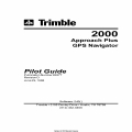 Trimble 2000 Approach Plus GPS Navigator Pilot Guide 1998 P/N 82877 $9.95