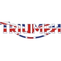 Triumph Motorcycle Decal/Sticker 3''h x 12''w!