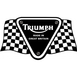 Triumph Racing  Motorcycle Decal!