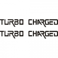 Turbo Charged Aircraft Decal/Sticker 1''high x 11''wide!