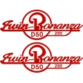 Twin Bonanza Aircraft Decal/Sticker 2.5''h x 7''w!