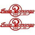 Twin Bonanza Aircraft Decal/Sticker 2.5''h x 7''w!