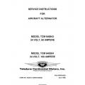 Continental Model TCM 646843 24 Volt 60 Ampere & Model TCM  649304 24 Volt 100 Ampere Service Instructions Form No. X30531-3 (Reformatted) $9.95