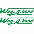 Wag-A-Bond Aircraft Decal,Sticker 2''high x 13''wide!
