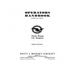 Pratt & Whitney Operators Handbook Twin Wasp C3 Engine  $13.95
